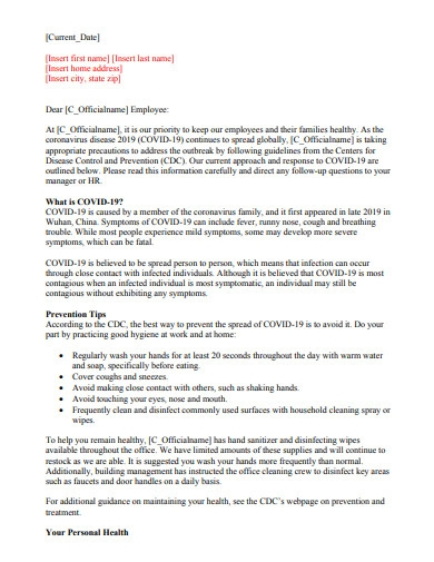 employment termination letter template
