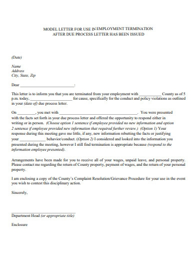 employment termination letter in pdf