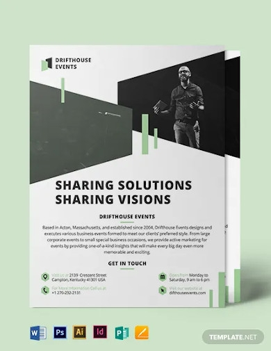 event conference flyer template