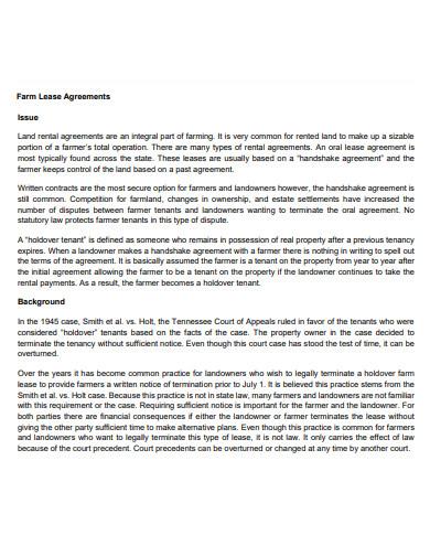 federation farm lease agreement