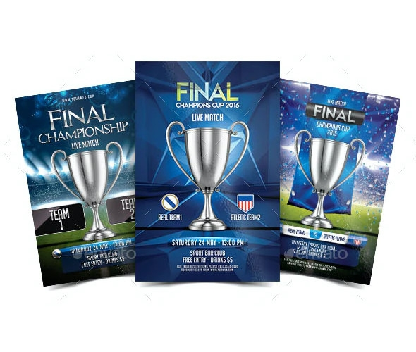 final champions cup flyer template