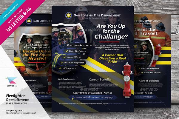 firefighter recruitment flyer template