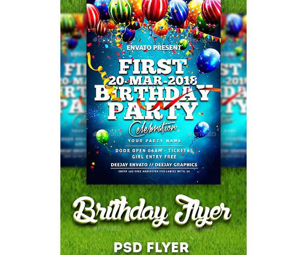 first birthday flyer template
