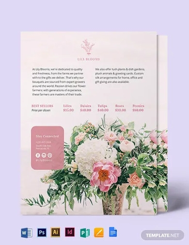 flower shop flyer template