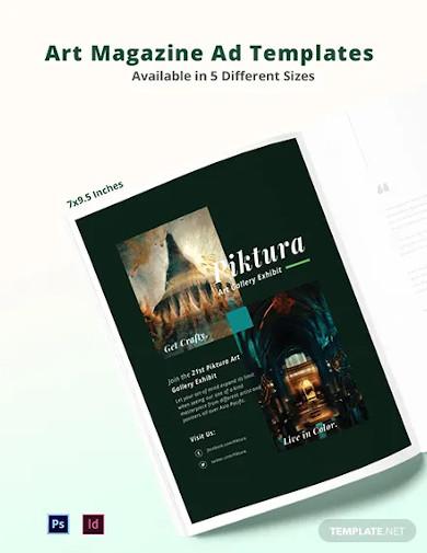 free art magazine ads template