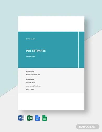 free blank freelance estimate template