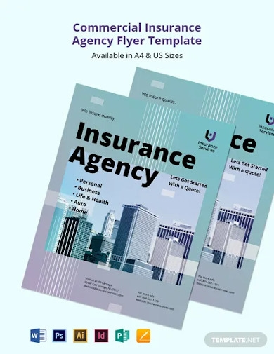 free commercial insurance agency flyer template
