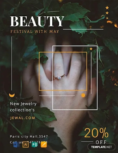 free jewelry shop flyer template