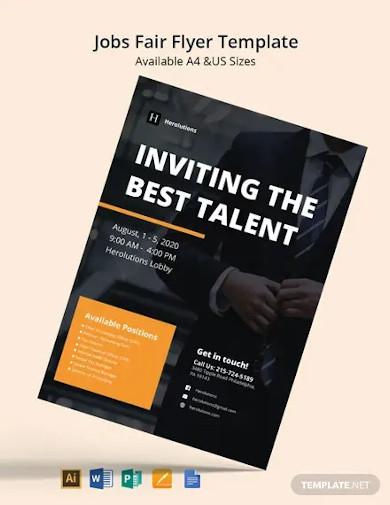 free modern job fair flyer template