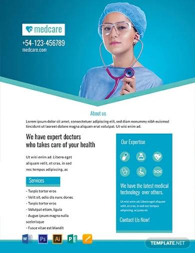 free sample medical flyer template