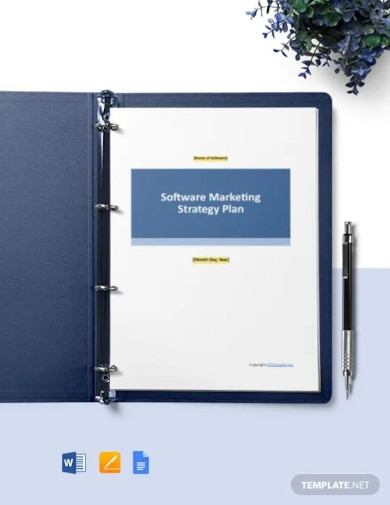 free sample software marketing strategy template