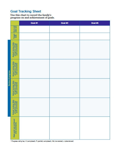 goal tracking sheet in pdf