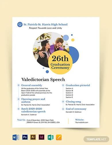 graduation ceremony flyer template