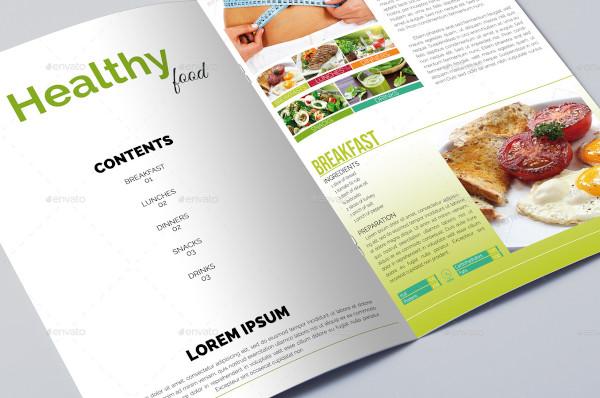 healthy diet food brochure template