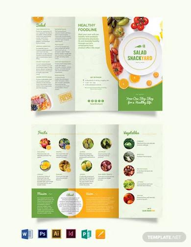 healthy food diet tri fold brochure template
