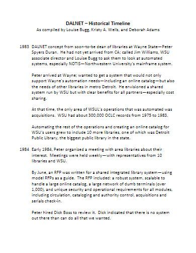 historical timeline in pdf