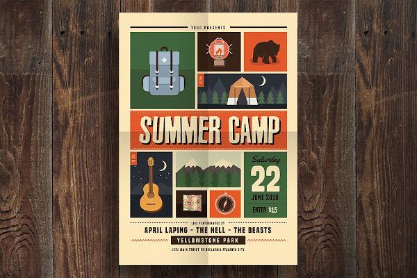 indie summer camp flyer