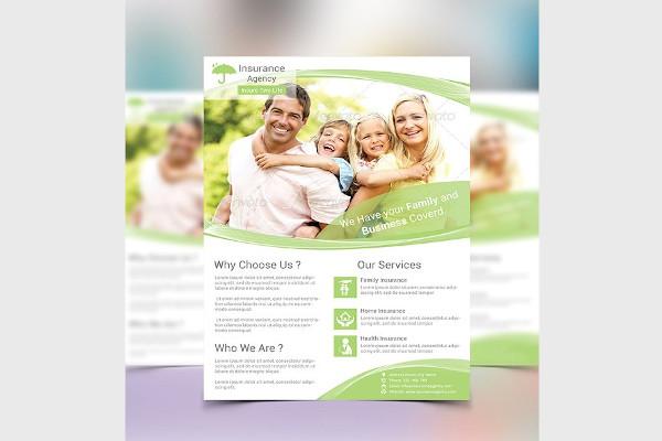 insurance family flyer
