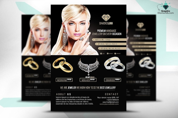 jewelry flyer psd template