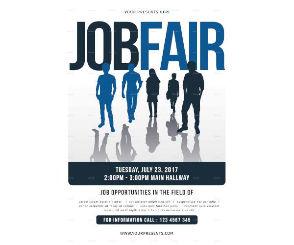 job fair flyer in psd