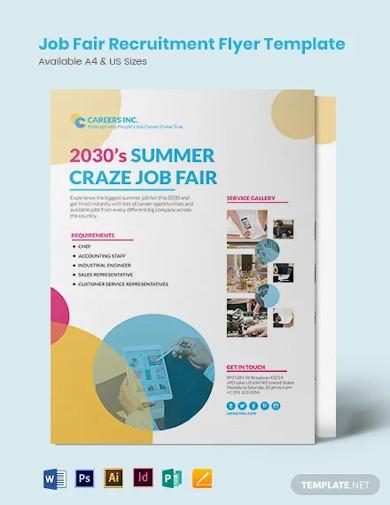 job fair recruitment flyer template