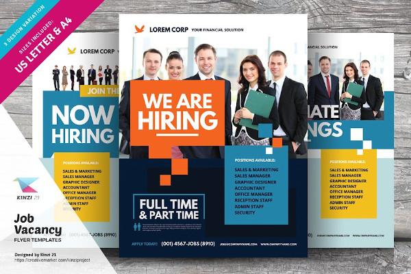 job vacancy flyer templates