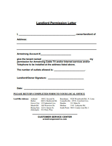 landlord permission letter in pdf