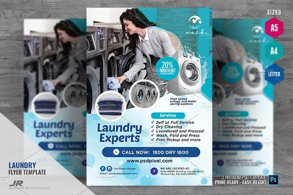 laundry business promo flyer