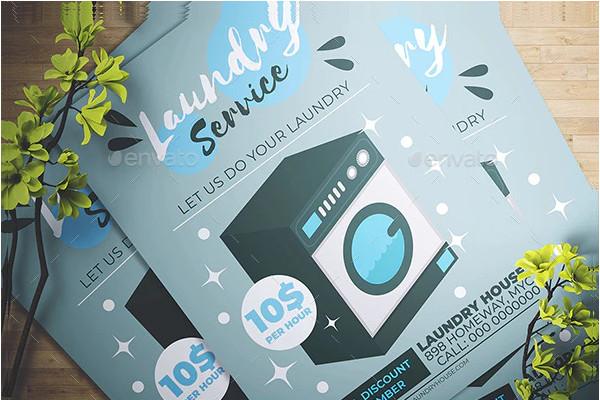 laundry promotion flyer