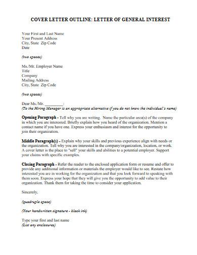 letter of general interest