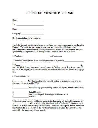 letter of intent to purchase in pdf