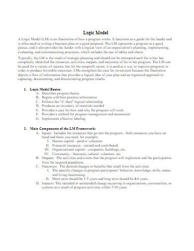 logic model example