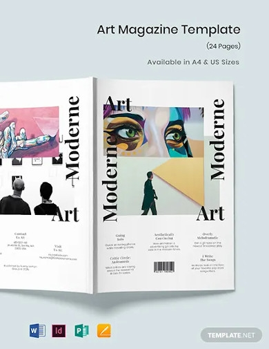 modern art magazine template
