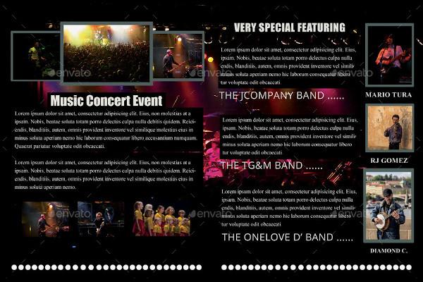 music concert event brochure