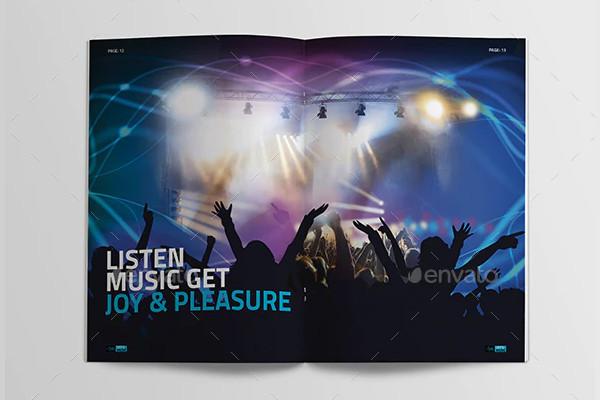 music festival brochure