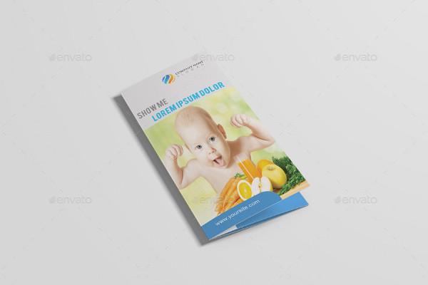 nutrition healthy food restaurant brochure