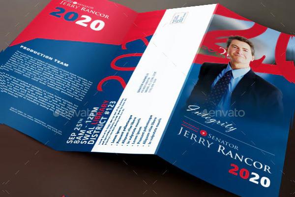 political election tri fold brochure template