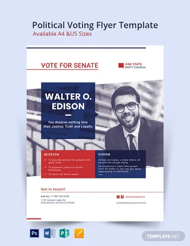 political voting flyer template