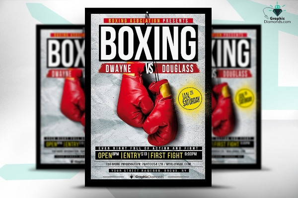 printable boxing flyer