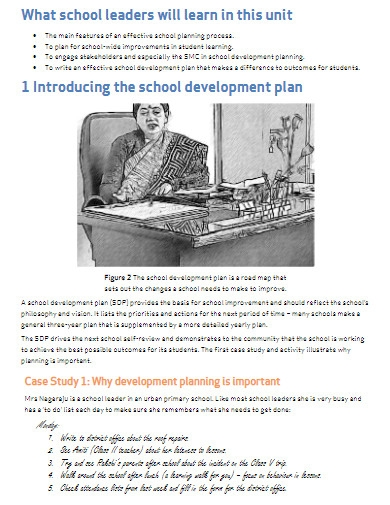 printable school development plan