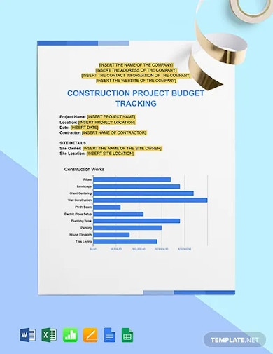 project budget tracking template
