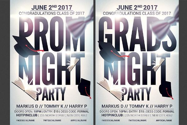 prom graduation night party flyer