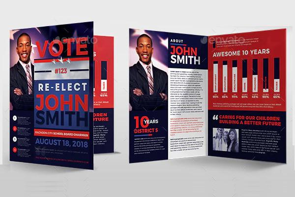 re election political brochure template