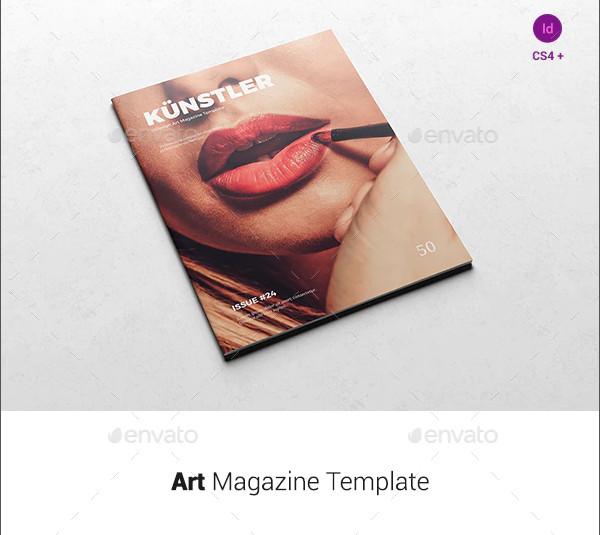 sample art magazine template