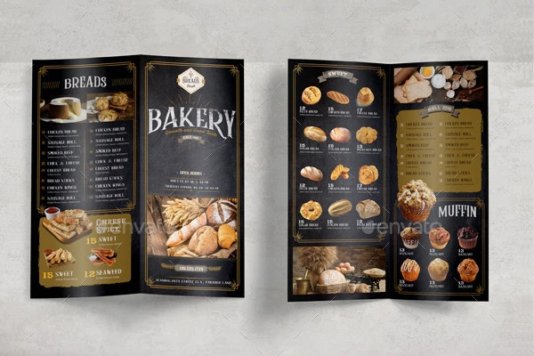 sample bakery brochure