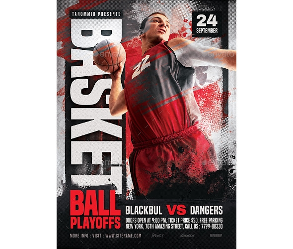 sample basketball flyer