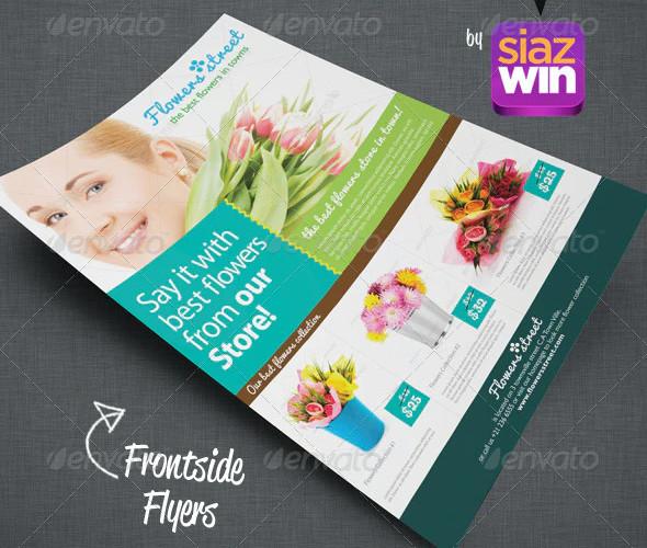 sample flower shop flyer