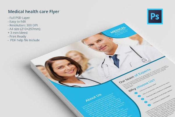 sample medical health care flyer