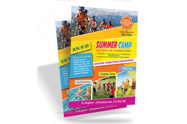 sample summer camp flyers