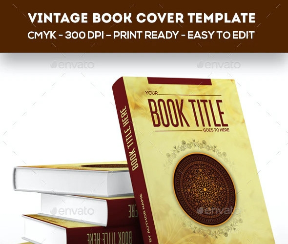 sample vintage book cover